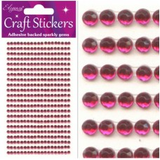 3mm Gems Hot Pink