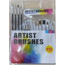 15 Artist Brush Set