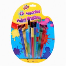 15 Assorted Paint Brushes
