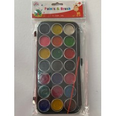 21 Paints and Brush Set