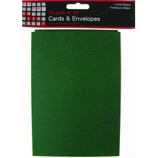 25 Pack A6 Green Card and Envelopes