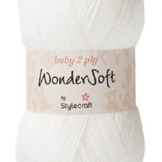 Stylecraft Wondersoft Baby 2Ply Snow White