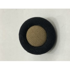 Fabric Covered Black with brown center 36L Button