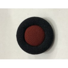 Fabric Covered Black with Red center 36L Button