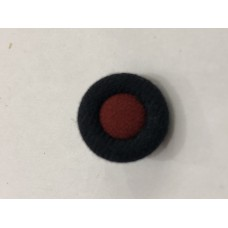 Fabric Covered Black with Red center 24L Button