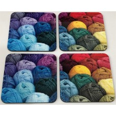 Wool Coaster square x 4 Set