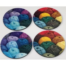 Wool Coaster round x 4 Set