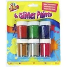 6 Glitter Paints