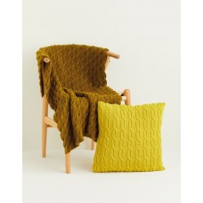 FREE CABLE BLANKET & CUSHION COVER IN SIRDAR COUNTRY CLASSIC DK