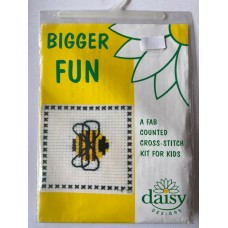 Bigger Fun Counted Cross Stitch Kit Bee