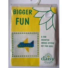 Bigger Fun Counted Cross Stitch Kit Plane