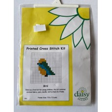 Daisy Printed Cross Stitch Kit Bird