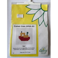 Daisy Printed Cross Stitch Kit Boat