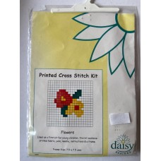 Daisey Printed Cross Stitch Kit Flowers