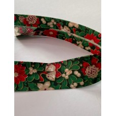 Bias Binding Christmas Berries Print 30mm