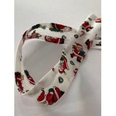 Bias Binding Christmas Print 25mm