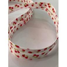 Bias Binding Red Berries Print 20mm