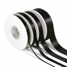 Black Double Satin Ribbon