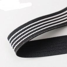 Elastic Black rubber grip 25mm