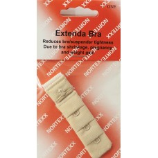 Bra Extender Single hook 19mm Beige