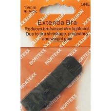 Bra Extender Single hook 19mm Black