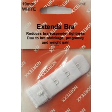 Bra Extender Single hook 19mm White