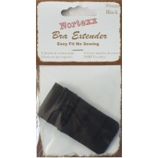 Bra Extender 2 hook 30mm Black