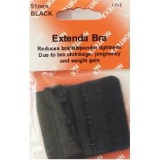 Bra Extender 3 hook 51mm Black