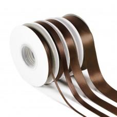 Brown Double Satin Ribbon