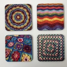 Crochet Coaster square x 4 Set
