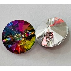 Button Crystal Iridescent