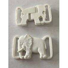 Elephant Clip White