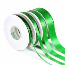 Green Double Satin Ribbon