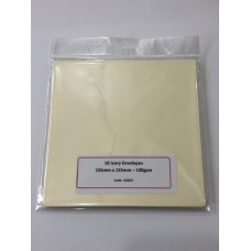 10 Cream Envelopes Square