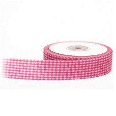 Gingham Ribbon Pink