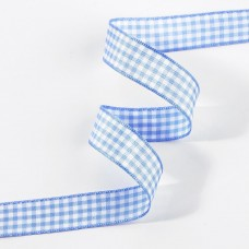 Gingham Ribbon Light Blue