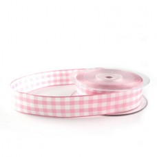 Gingham Ribbon Light Pink