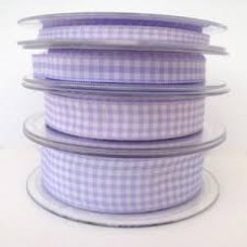 Gingham Ribbon Lilac