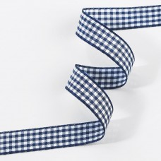 Gingham Ribbon Navy