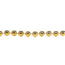 Beads 8mm on a String Gold