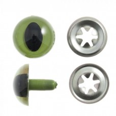 Safety Cat Eyes Green 15mm