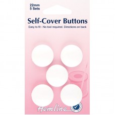 Hemline self Cover Buttons 22mm plastic