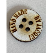 Wooden Personalised  Button 20mm