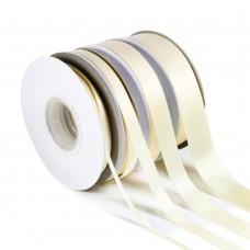 Cream Double Satin Ribbon