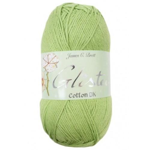 GS2 Cream James C Brett Glisten Cotton Double Knitting Wool//Yarn 100g