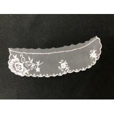 Lace Collar Flower design White