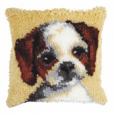 Latch Hook Kit: Cushion: Small: Dog
