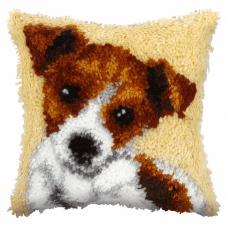Latch Hook Kit: Cushion: Small: Jack Russel
