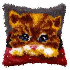 Latch Hook Kit: Cushion: Small: Kitten