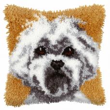 Latch Hook Kit: Cushion: Small: Westie
